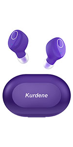 purple wireless earbuds