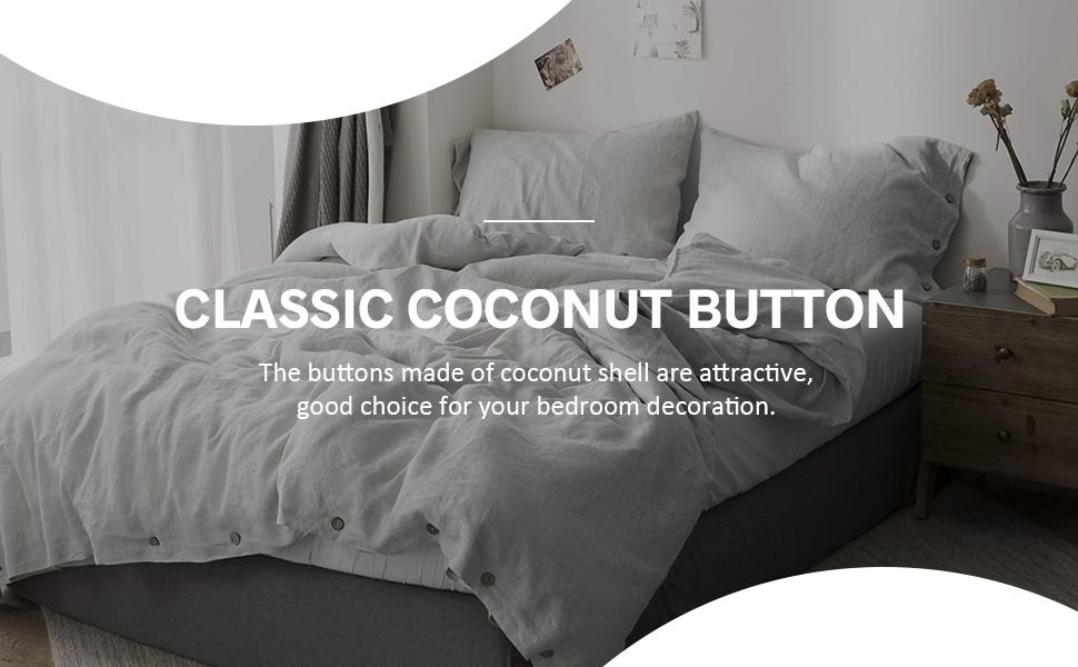 coconut button bedding