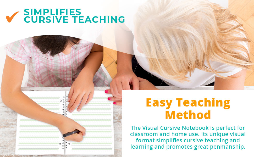 Easy Teaching Method The Visual Cursive Notebook is perfect for classroom and home use.
