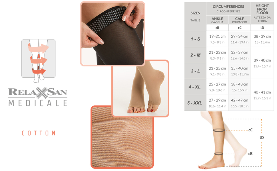 relaxsan medicale soft tabella taglie