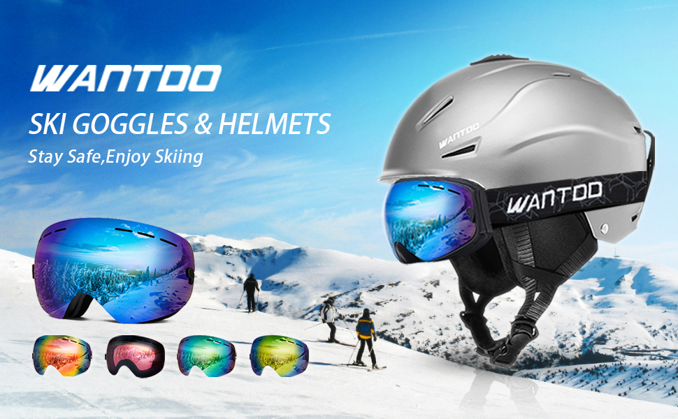 Wantdo Cylindrical Ski Goggles