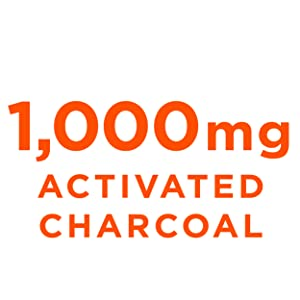 bulletproof 1000mg 500mg charcoal capsule