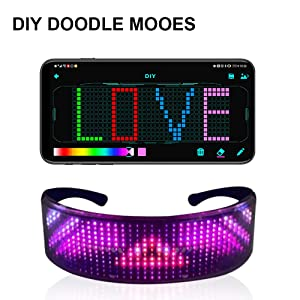 Programmable Bluetooth RGB Fullcolor Glowling LED Smart Glasses