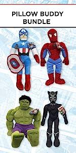 hulk, Spiderman, Black Panther, Captain America