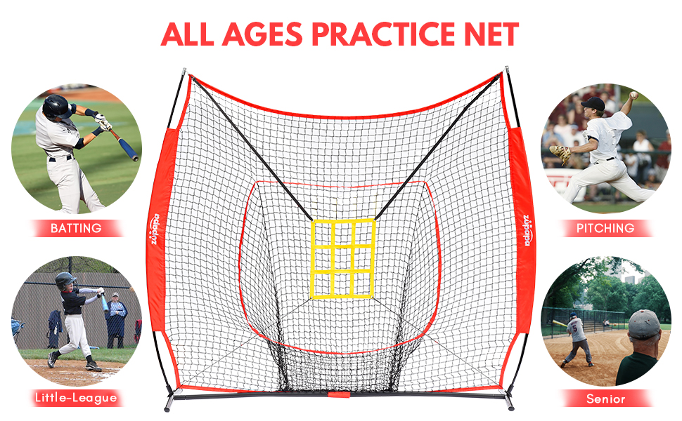 zupapa yellow baseball net