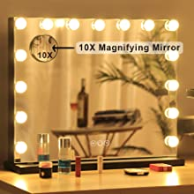 Detachable 10X Magnifying MirrorDetachable 10X Magnifying Mirror