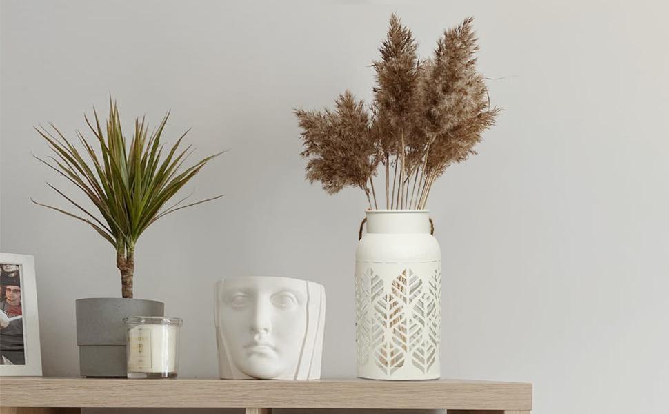 Carved Metal Vase