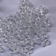 The 4MM crystal bead is designed with 2 more facets