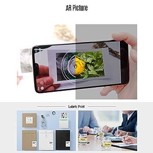Aibecy PeriPage A8 Mini portátil de bolsillo Inalámbrico BT Impresora térmica Banco de potencia Función de clip Diseño Etiqueta de recibo Memo ...