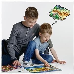 Les puzzles peuvent être de bons raconteurs d'histoires et stimuler l'imagination et la créativité