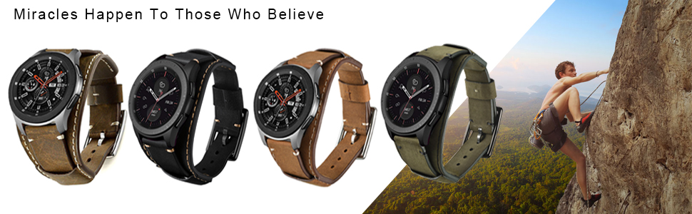 samsung galaxy watch 46mm band gear s3 frontier classic leather 22mm metal fossil q explorist