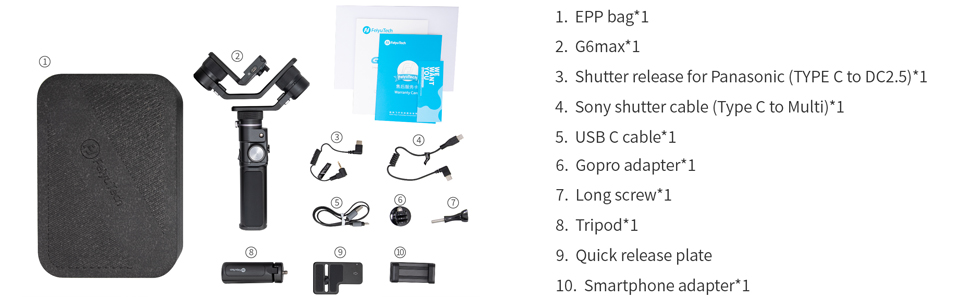 package content of G6 Max