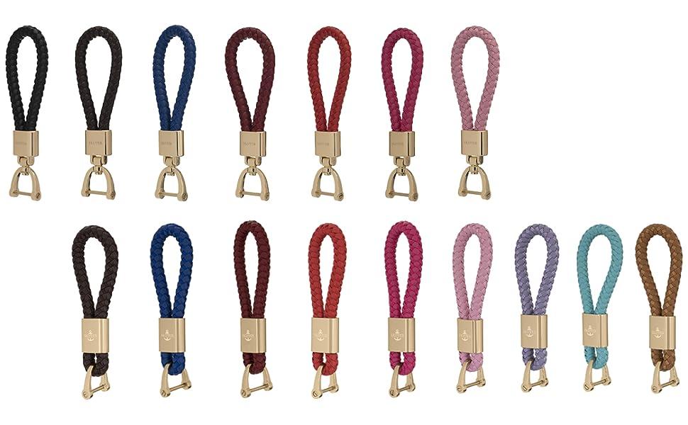 Skipper Anhänger Schlüsselanhänger Leder//Nylon Pink 7278