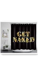 ECOTOB Get Naked Sunflower Shower Curtain for Bathroom