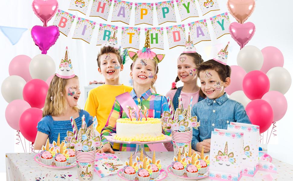 """12 X Argent Licorne 9/"""" Assiettes En Papier Feuille Enfants Fête D/'anniversaire vaisselle Girl"""