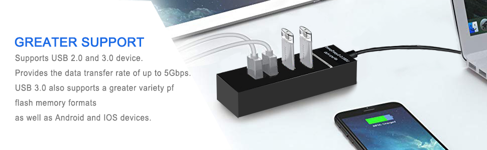 Ps4/Ps4 Slim/Ps4 Pro Hub,4 Port USB 3.0 Hub High Speed USB Cable Adapter for/XBOXONE/XBOX360/Compute