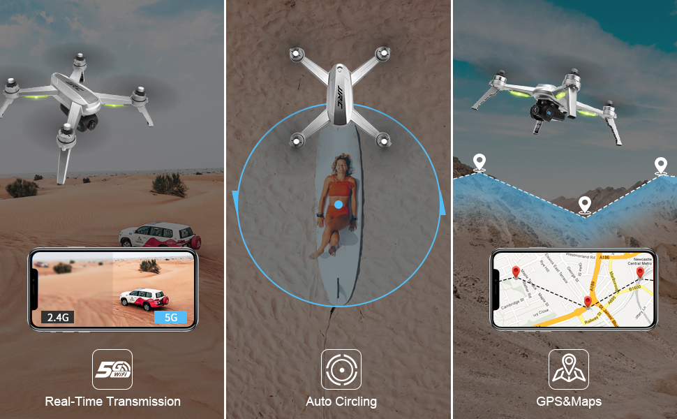5g wifi+circle fly+gps map