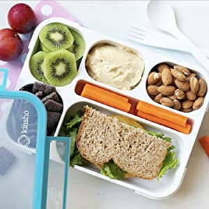 Mini small bento lunch box snack container for kids toddlers adutls school travel work