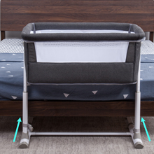 Air mesh - Baby Bassinet,RONBEI Bedside Sleeper,Baby Bed To Bed,Babies Crib Bed, Adjustable Portable Bed For Infant/Baby Boy/Baby Girl/Newborn (Dark Grey)