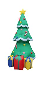 blossom inflatables huge jumbo christmas tree lights gift box outdoor indoor yard decoration blowup