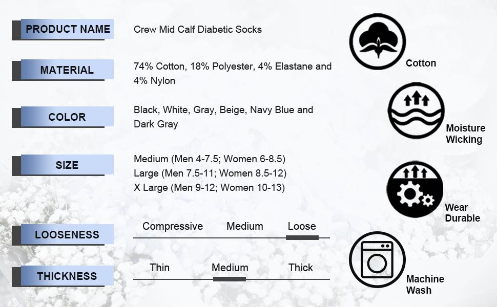 dress crew diabetic socks