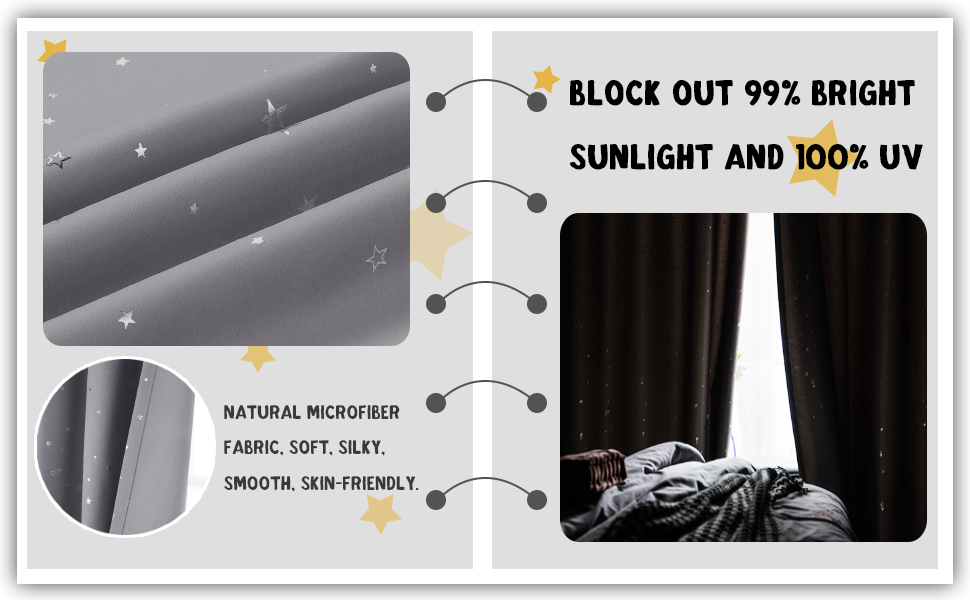 100% blackout curtains linen curtains with insulate thermal liner
