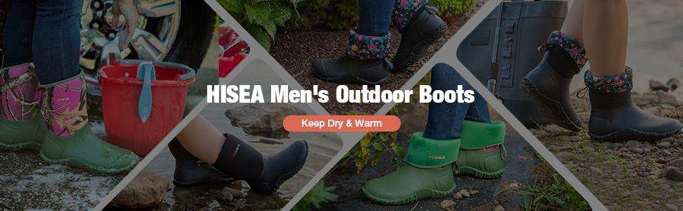 hisea RUBBER RAIN boots