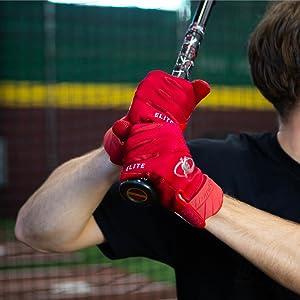 Men's Baseball Batting Gloves Red Lizard Skins Komodo Elite V2