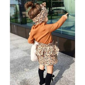 Heart Leopard Skirt Set