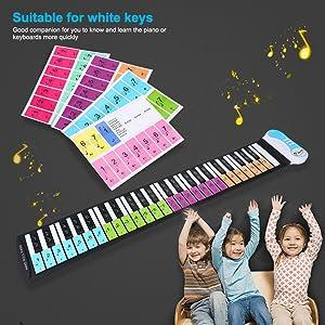 Pegatina Piano Instrumentos Musicales