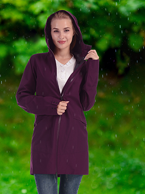 women rain jacket coat outdoor sport
