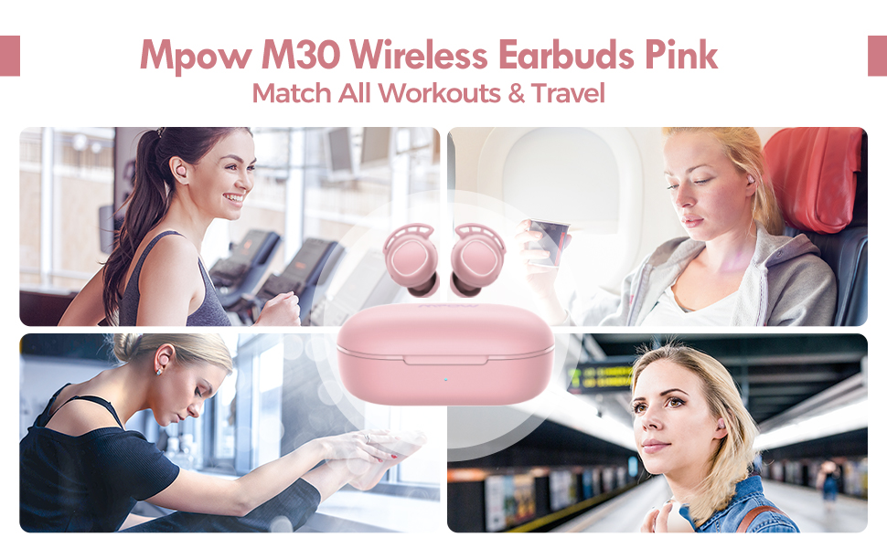 wireless earbuds pink Bluetooth earbuds bluetooth earphones wireless earphones Bluetooth headphones