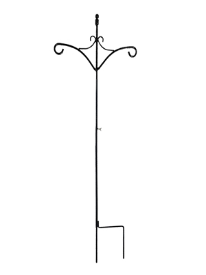 Ashman 91 Inch Adjustable Shepherds Hook with Twin Hooks 5//8 Inches Thick Super Strong Wind Chimes and use at Weddings Rust Resistant Steel Hook for Hanging Plant Baskets Bird Feeders 2 Pack