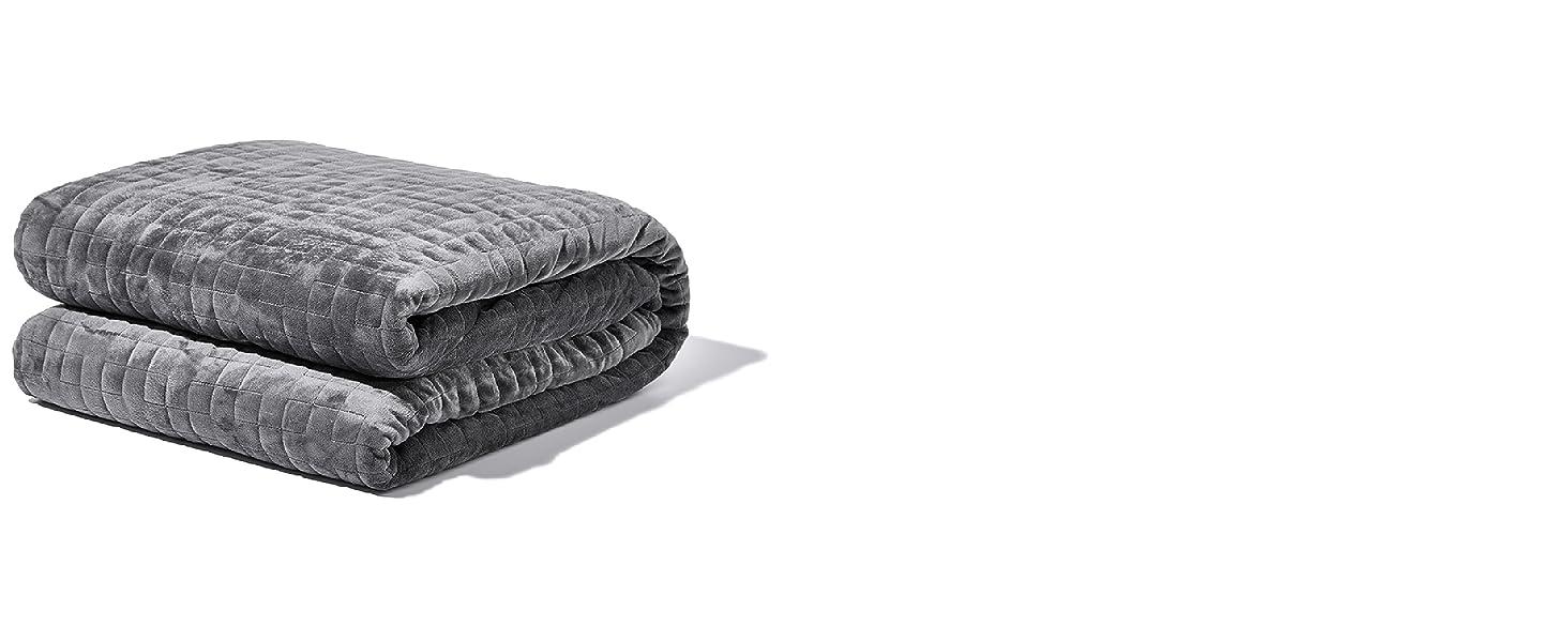 gravity blanket, weighted blanket, sleep, sleep aid, heavy blanket, blanket, plush, gravity, gray
