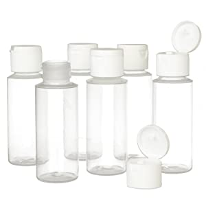 2 ounce travel flip cap squeeze bottles