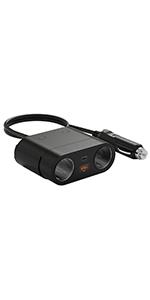 シガーソケット 2連 PD3.0 120W ソケット分配器 USB 急速充電