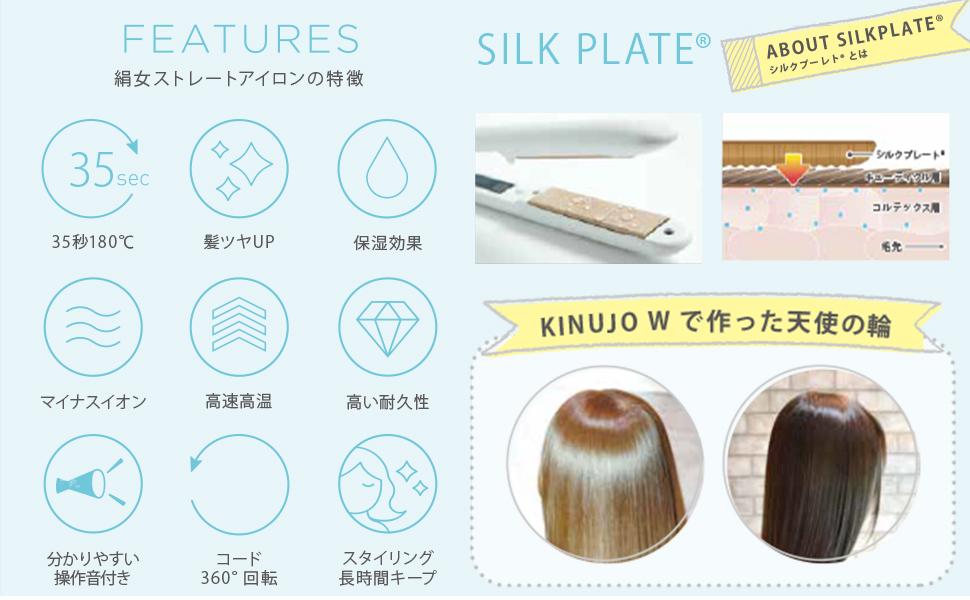 絹女(KINUJO)ストレートアイロンの特徴