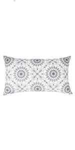 gray lumbar pillows
