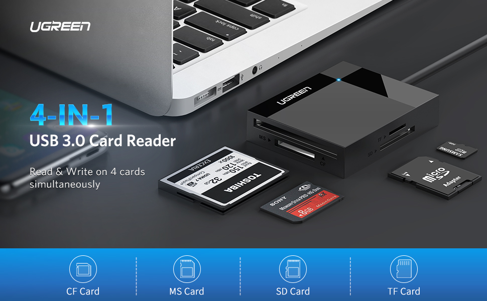 SanFlash PRO USB 3.0 Card Reader Works for LG Pulse Adapter to Directly Read at 5Gbps Your MicroSDHC MicroSDXC Cards