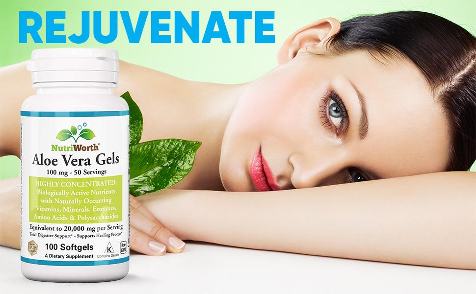 aloe vea leaf juice gel powder capsules pills softgels supplements