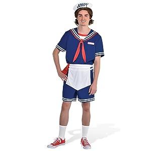 Regatul Unit imagini oficiale preț atractiv Amazon.com: Party City Steve Scoops Ahoy Halloween Costume for Men ...