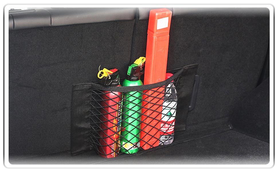 Ur HQCC Car Net Pocket Handtaschenhalter Car Mesh Organizer Sitzlehne Net Bag f/ür Handtasche Bag Wertsachen,Schwarz,A Telefon Dokumente