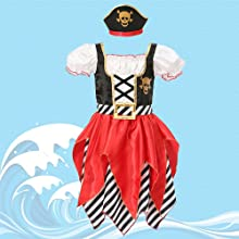 Cute for Toddlers Girls Pirate Princess Dress,Pullover Style