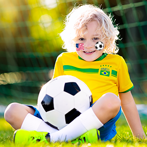 world cup football body face paint crayon