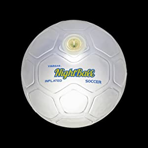 nightball white soccer lightup glow sports ball