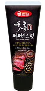 black hot sauce for meat steak garlic powder soy sauce grilled  sea foods pepper tube hot ones