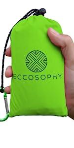 Green ECCOSOPHY Pocket Blanket