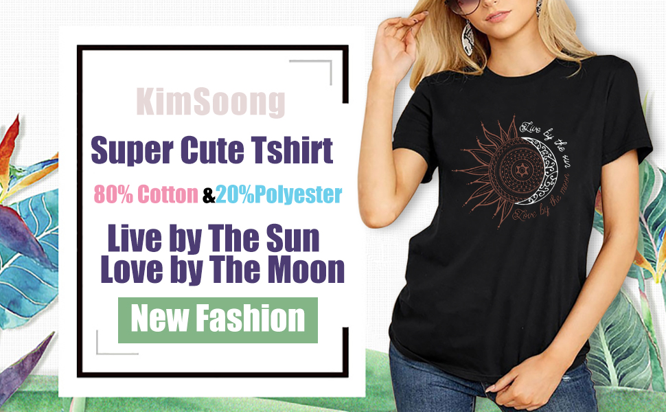 Womens Live By The Sun Love By The Moon Tshirt