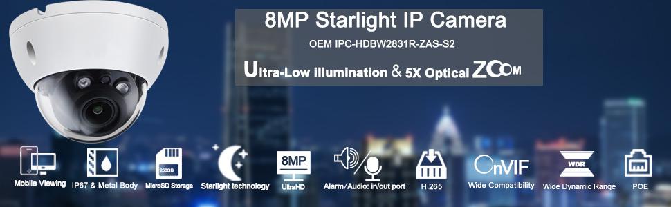 8MP Starlight Security IP Camera
