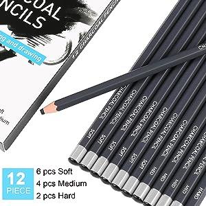 pencil charcoal
